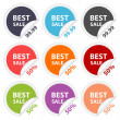 图库矢量图片: Vector stickers best sale. Design elements.