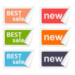 Vector stickers best sale. Design elements. — Stock vektor