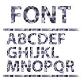 Abstract mosaics alphabet set. Font. Vector illustration. — Stock Vector