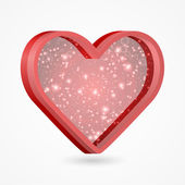 Beautiful red heart. Vector illustration. — Stock Vector