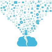 Cloud computing concept. Modern design template. Vector illustration — ストックベクタ