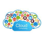Vector cloud computing concept. Modern design template. — Stock Vector