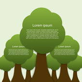 Infographic of ecology. Concept design with tree — Stock Vector