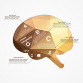 Brain infographic. Vector illustration. — Stock Vector