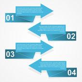 абстрактная бумажная инфографика — Cтоковый вектор