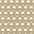Vintage seamless pattern wineglasses with red wine. Vector illustration. — Stock Vector #39648969