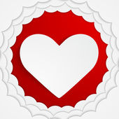 Stylish red heart background. Vector illustration. — Stock Vector