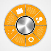 Modern circle options infographic. — Stockvektor