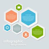 抽象的な紙のインフォ グラフィック. — ストックベクタ