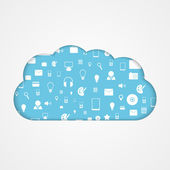 Vector cloud computing concept. Modern design template. — 图库矢量图片