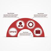 Vektorový infographic. šablona návrhu. — Stockvektor