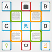 Vector infographic. Design template. — Stock Vector