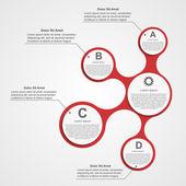 Abstracte infographic. ontwerpelementen. — Stockvector