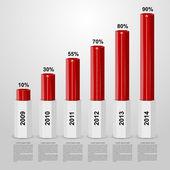 Vector infographic design elements. — Stock Vector
