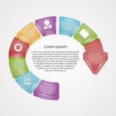 インフォ グラフィックをベクトルします。デザイン要素. — ストックベクタ