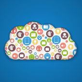 Cloud computing concept. Modern design template. Vector illustration — Cтоковый вектор