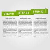 Paper infographic design element. — Stok Vektör