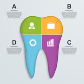 Tooth infographic background. — Stock Vector
