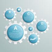 Gears infographic design template. — Stock Vector