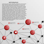Abstract infographics template. — Vector de stock