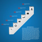 Abstract infographics template. Staircase concept. — Stock vektor