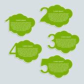Opzioni numeri di nuvole infografica. — Vettoriale Stock