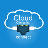 Cloud computing concept. Connected to the cloud. — Stock Vector