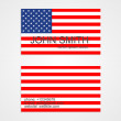 American Flag business card template. Vector illustration. — Stock Vector #48156183
