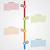 Graphics tidslinje koncept. — Stockvektor