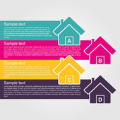 Infographic design style colorful house. — Stock Vector