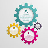 Gears infographic design template. — Stock Vector