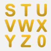 Vector alfabet set. — Stockvector