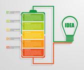 Modern design creative infographic business concept. Vector illustration. — Stock Vector