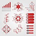 Set of Infographics. Modern design template. Vector illustration. — Stock Vector #51440687