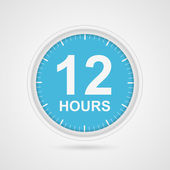 12 hours customer service icon. — Stock vektor