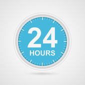 24 hours customer service icon. — Stock Vector