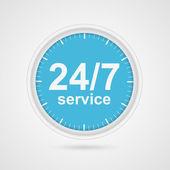 24 hours 7 days customer service icon. — Stock vektor