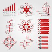 Set of Infographics. Modern design template. Vector illustration. — Stock Vector