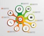 Abstrakt infographic i form av metabolisk. designelement. — Stockvektor