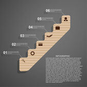 Infographic in the form of steps staircase design concept. — Stock Vector