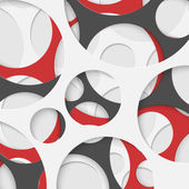 Abstract Circles Geometric Background. Vector Illustration. — Vector de stock