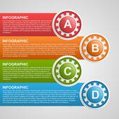 Gears infographic design template. — Stock vektor