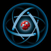 Atom having nucleus and electrons — Stock Photo