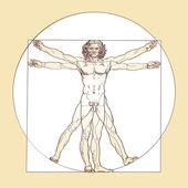 Vitruvian Man - Leonardo da Vinci — Stock Photo