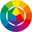 Color Wheel — Stok Vektör