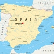 Spain Map — Stock Vector