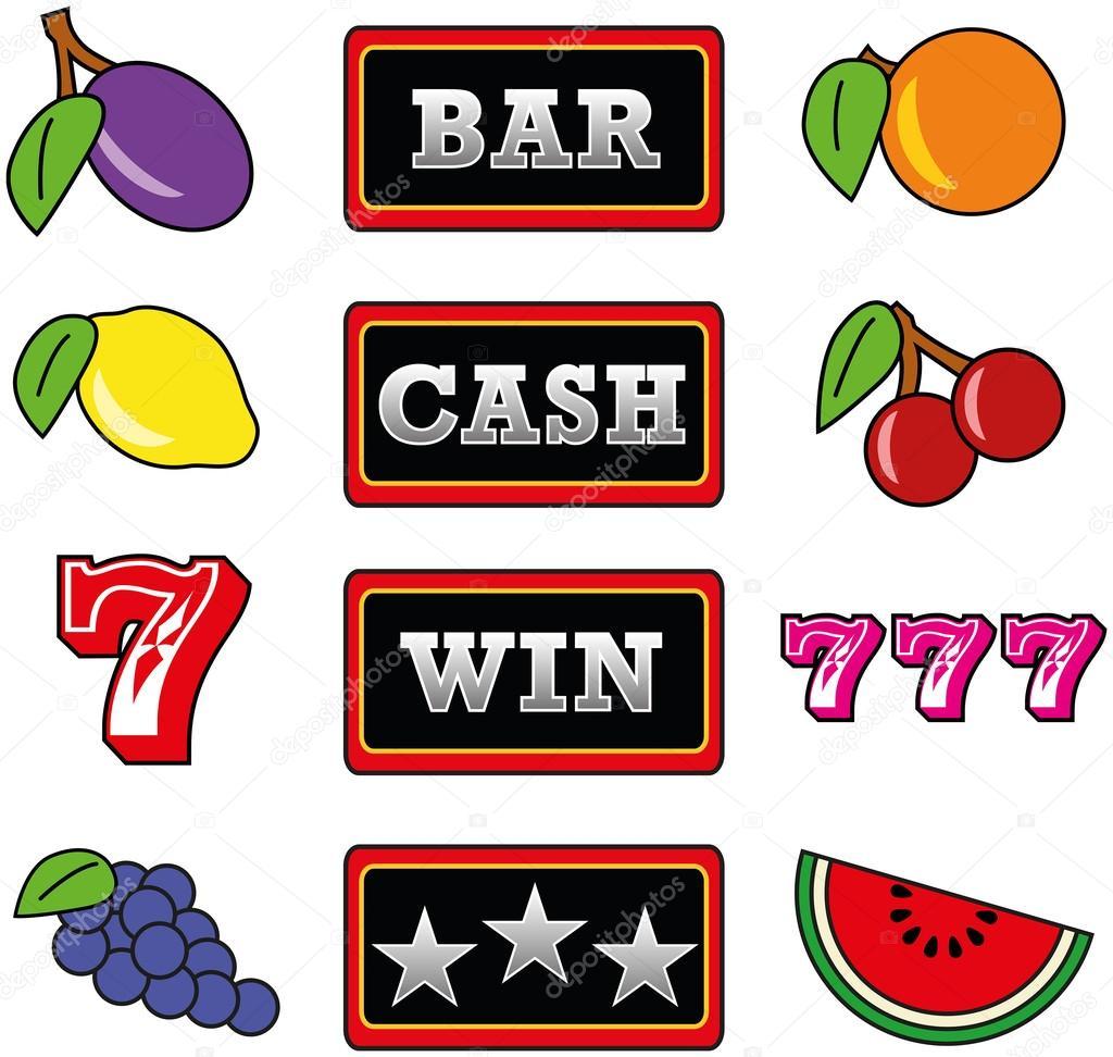 slot machine symbols graphics
