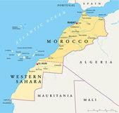 Morocco And Western Sahara Map — Stock Vector