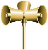 Loudspeaker Horn — Stock Vector