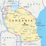 Постер, плакат: Tanzania Political Map